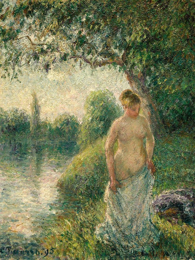 konfigurieren des Kunstdrucks in Wunschgröße The Bather von Pissarro, Camille