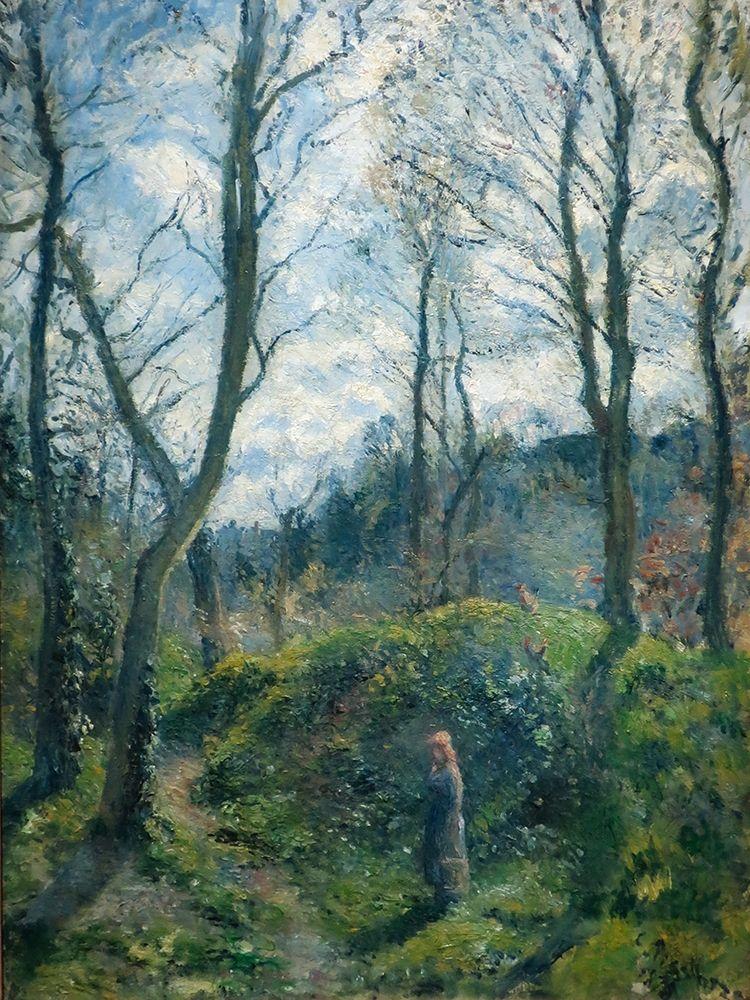 konfigurieren des Kunstdrucks in Wunschgröße Woodland scene. Spring von Pissarro, Camille