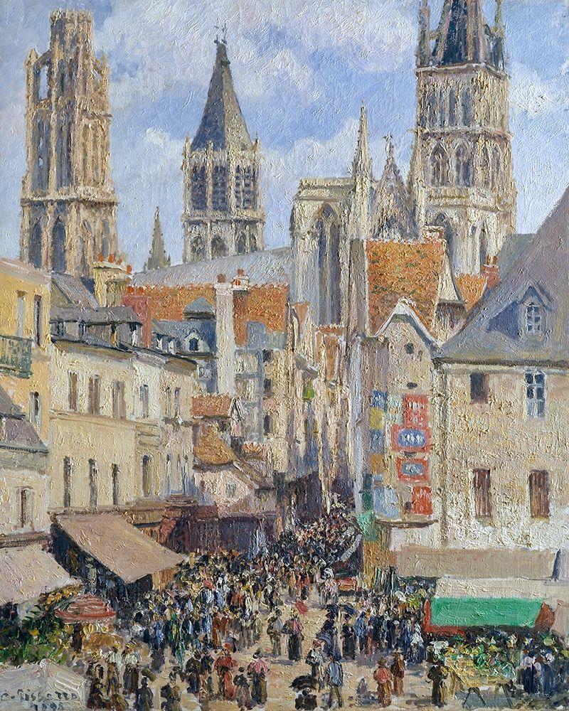 konfigurieren des Kunstdrucks in Wunschgröße Rue de lEpicerie, Rouen Effect of Sunlight von Pissarro, Camille