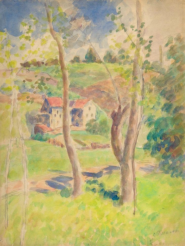 konfigurieren des Kunstdrucks in Wunschgröße Landscape von Pissarro, Camille