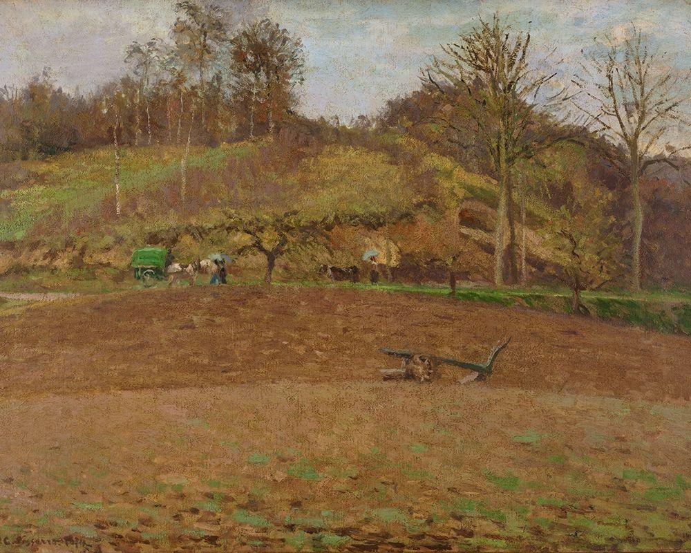 konfigurieren des Kunstdrucks in Wunschgröße Ploughed land von Pissarro, Camille