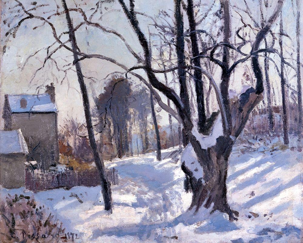 konfigurieren des Kunstdrucks in Wunschgröße Winter Landscape in Loiveciennes von Pissarro, Camille