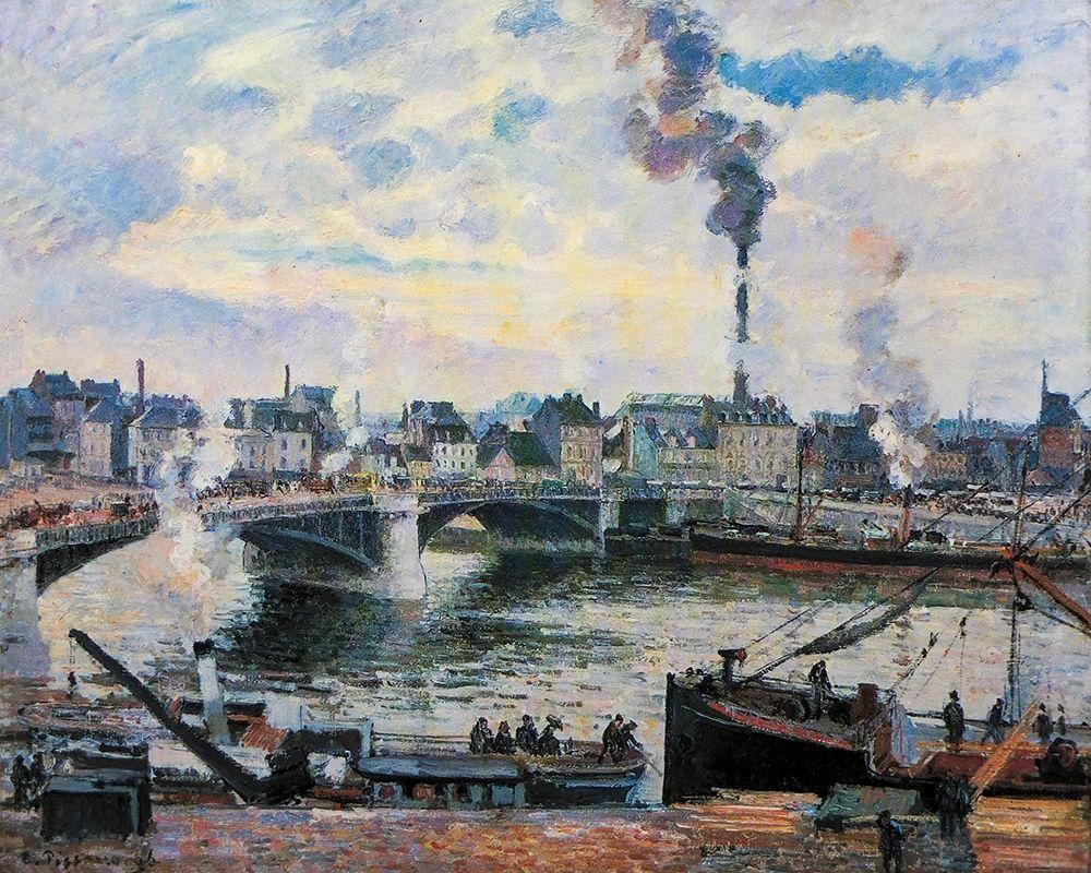 konfigurieren des Kunstdrucks in Wunschgröße Le Grand-Pont, Rouen von Pissarro, Camille