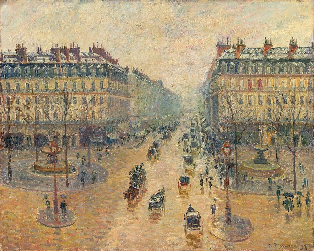konfigurieren des Kunstdrucks in Wunschgröße Avenue de LOpera, Effect of Snow in the Morning von Pissarro, Camille