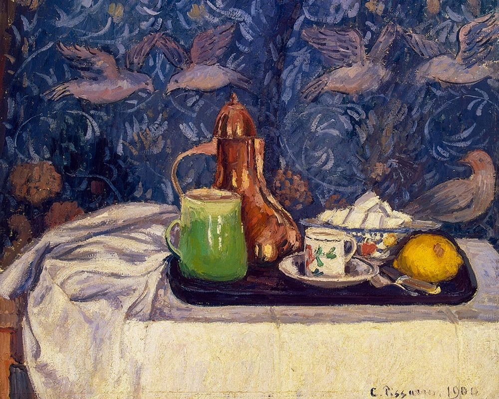 konfigurieren des Kunstdrucks in Wunschgröße Still Life with a Coffeepot von Pissarro, Camille