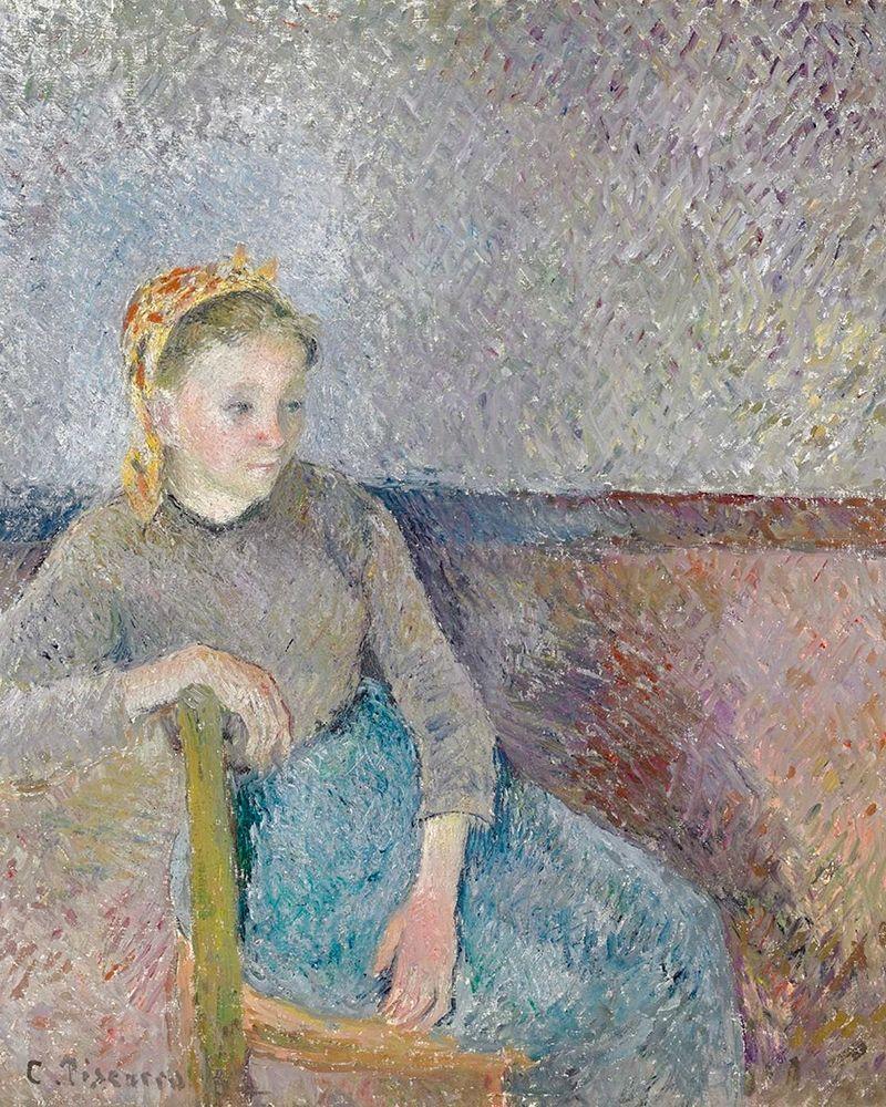konfigurieren des Kunstdrucks in Wunschgröße Seated Peasant Woman von Pissarro, Camille