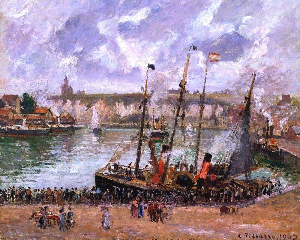konfigurieren des Kunstdrucks in Wunschgröße Harbor at Dieppe von Pissarro, Camille