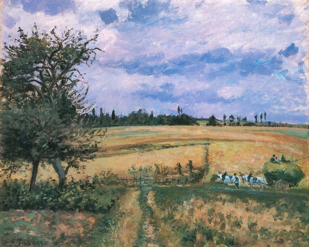 konfigurieren des Kunstdrucks in Wunschgröße Landscape in Pontoise von Pissarro, Camille