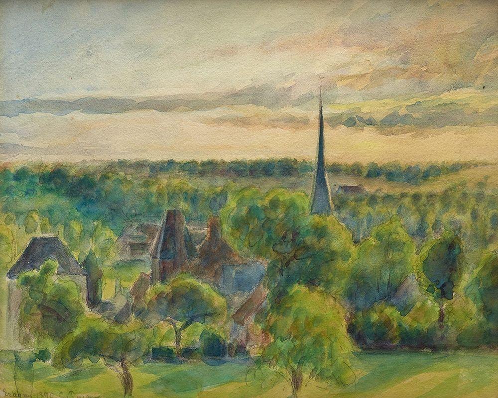 konfigurieren des Kunstdrucks in Wunschgröße Landscape at Eragny von Pissarro, Camille