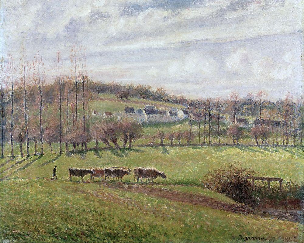 konfigurieren des Kunstdrucks in Wunschgröße Summer Landscape, Eragny von Pissarro, Camille