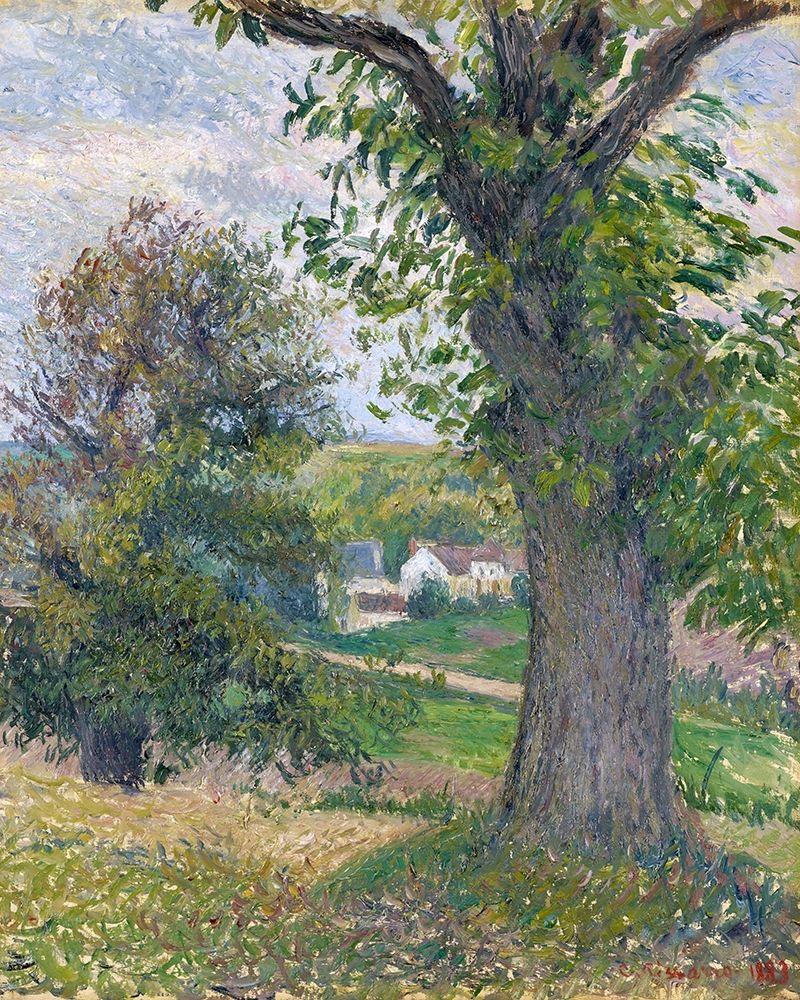 konfigurieren des Kunstdrucks in Wunschgröße Chestnut trees in Osny von Pissarro, Camille
