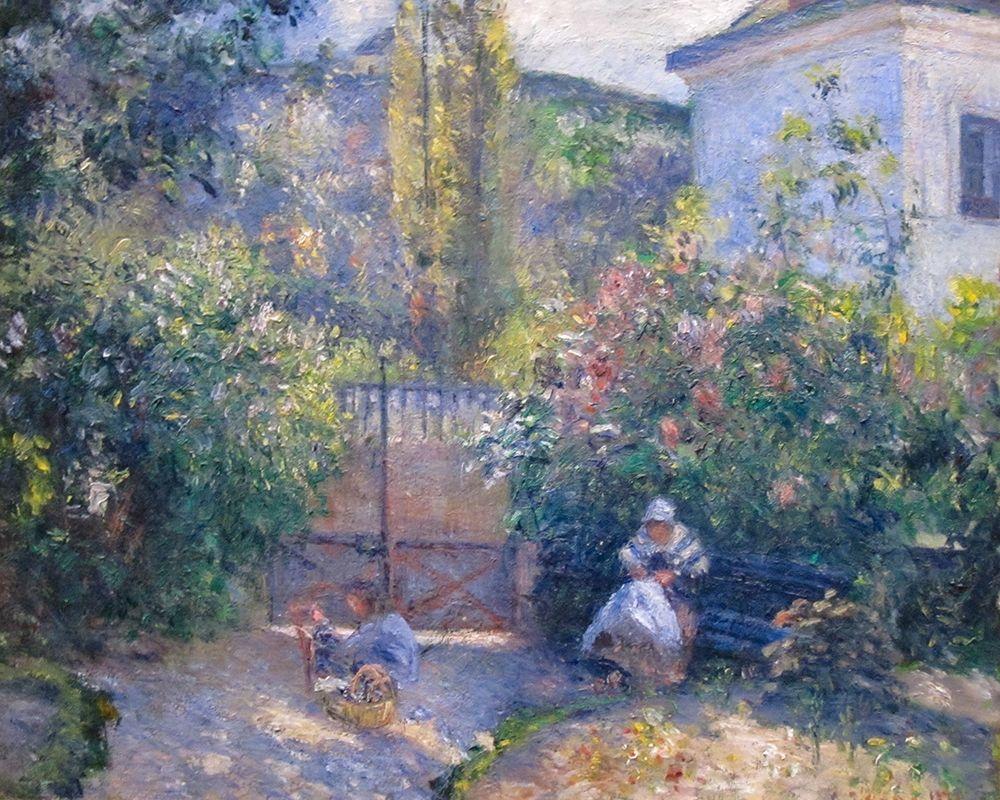 konfigurieren des Kunstdrucks in Wunschgröße Hermitage Garden, Maison Rouge von Pissarro, Camille
