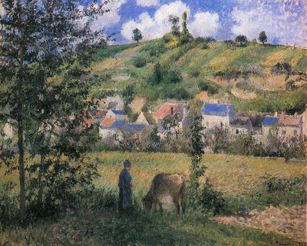 konfigurieren des Kunstdrucks in Wunschgröße Landscape at Chaponval von Pissarro, Camille