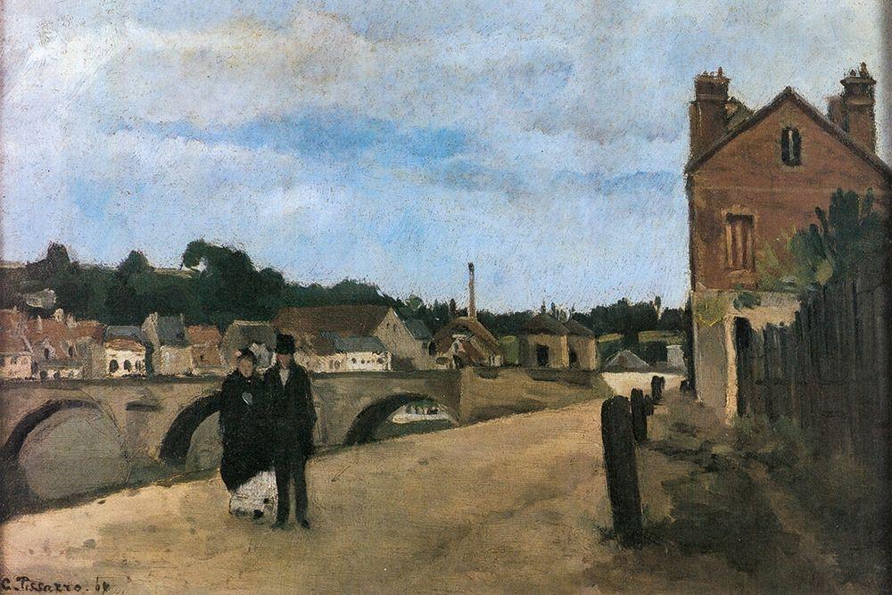 konfigurieren des Kunstdrucks in Wunschgröße View of Pontoise von Pissarro, Camille