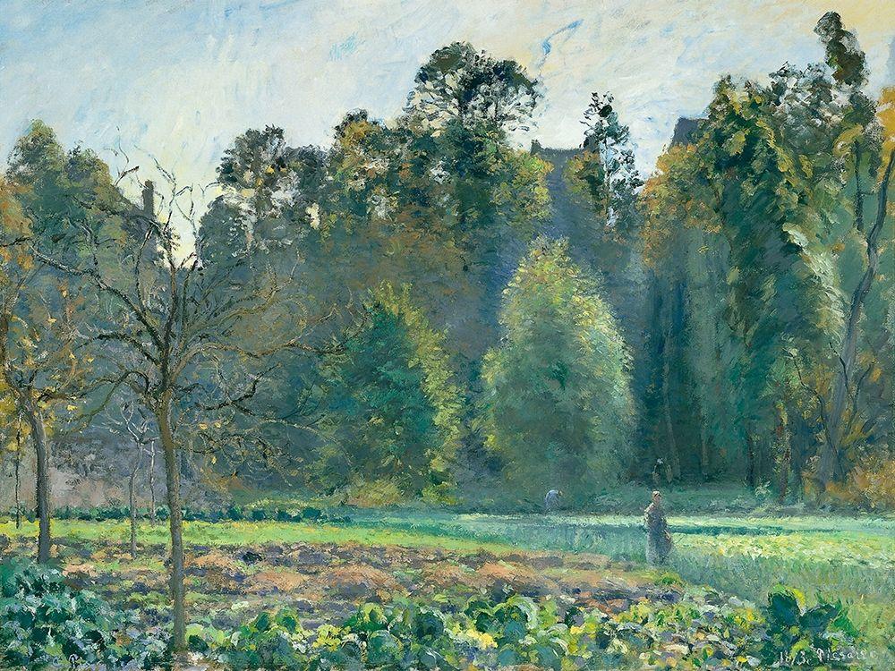 konfigurieren des Kunstdrucks in Wunschgröße The Cabbage Field, Pontoise von Pissarro, Camille