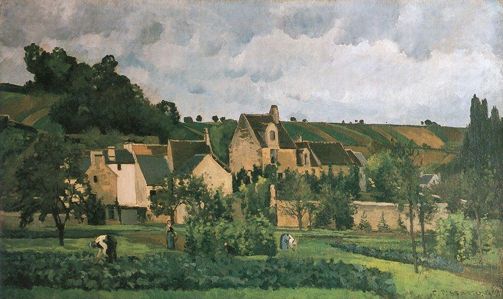 konfigurieren des Kunstdrucks in Wunschgröße The Hermitage in Pontoise von Pissarro, Camille