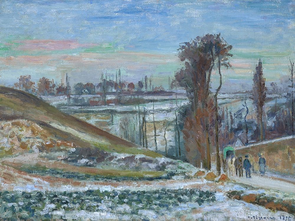 konfigurieren des Kunstdrucks in Wunschgröße Snow effect at the Hermitage von Pissarro, Camille