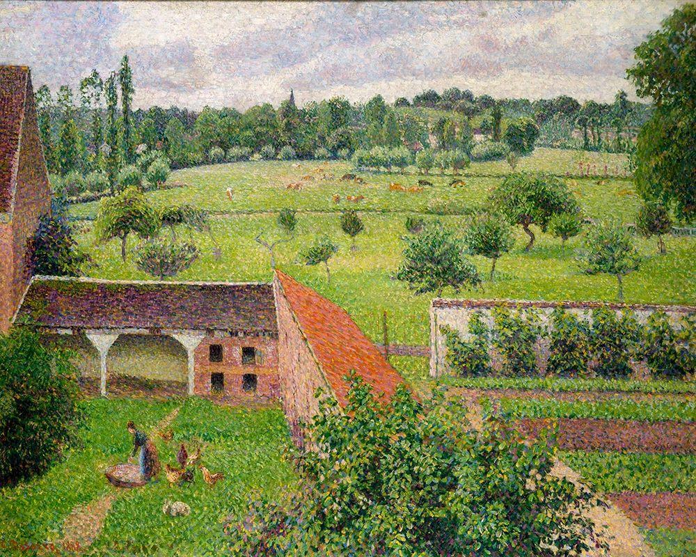 konfigurieren des Kunstdrucks in Wunschgröße View from my Window, Eragny-sur-Epte von Pissarro, Camille