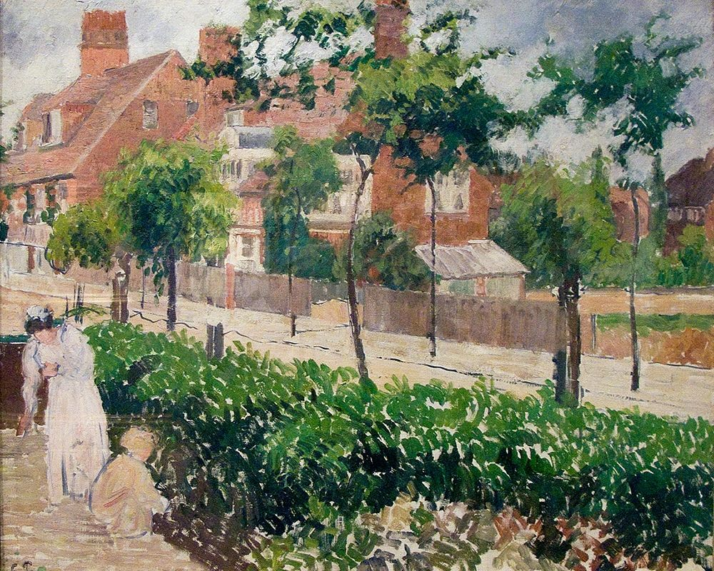 konfigurieren des Kunstdrucks in Wunschgröße Bath Road, London von Pissarro, Camille