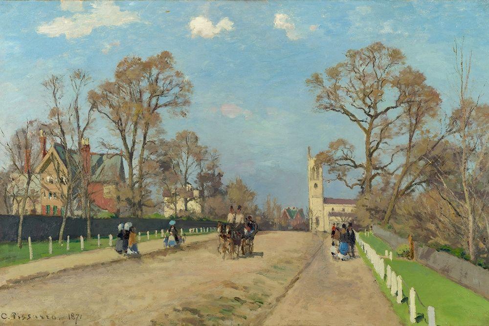 konfigurieren des Kunstdrucks in Wunschgröße The Avenue, Sydenham von Pissarro, Camille