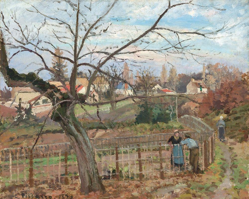konfigurieren des Kunstdrucks in Wunschgröße The Fence von Pissarro, Camille