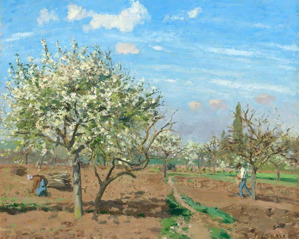 konfigurieren des Kunstdrucks in Wunschgröße Orchard in Bloom, Louveciennes von Pissarro, Camille