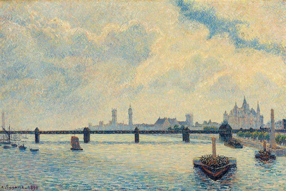 konfigurieren des Kunstdrucks in Wunschgröße Charing Cross Bridge, London von Pissarro, Camille