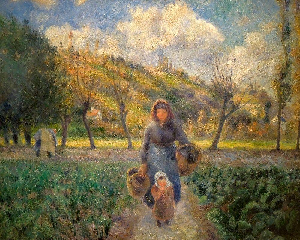 konfigurieren des Kunstdrucks in Wunschgröße In the Vegetable Garden von Pissarro, Camille