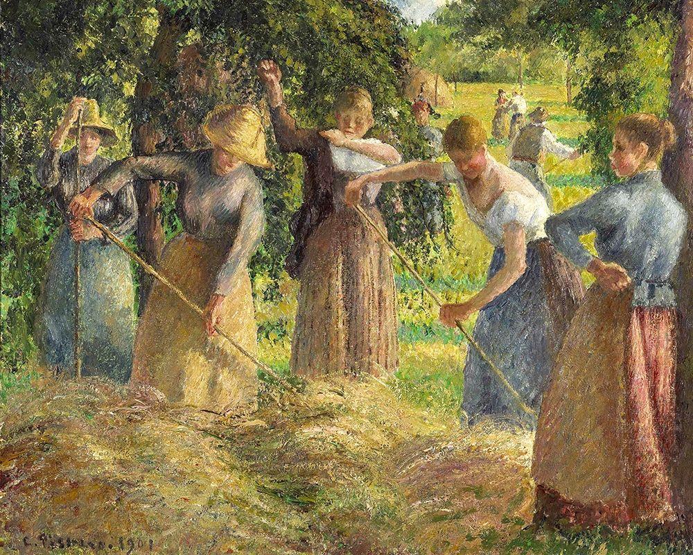 konfigurieren des Kunstdrucks in Wunschgröße Hay Harvest at Eragny von Pissarro, Camille