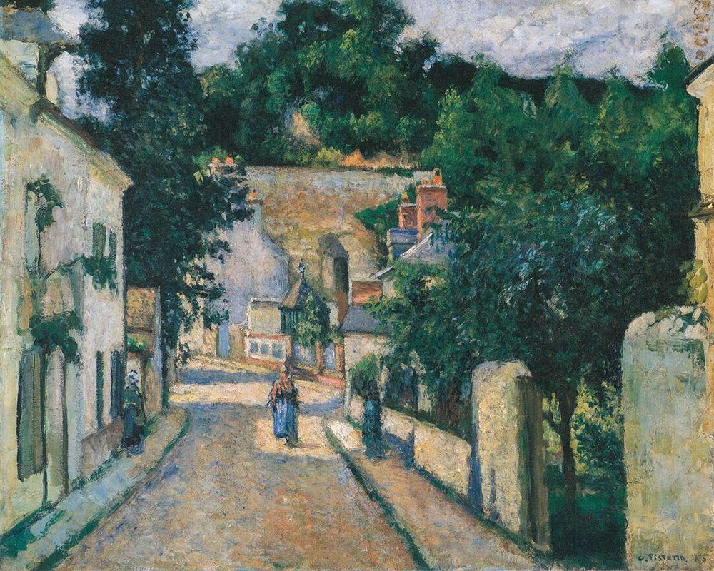 konfigurieren des Kunstdrucks in Wunschgröße Rue de L┬┤Hermitage a Pontoise von Pissarro, Camille