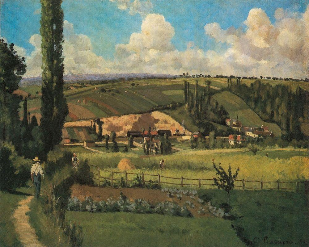 konfigurieren des Kunstdrucks in Wunschgröße Landscape at Les Patis, Pontoise von Pissarro, Camille