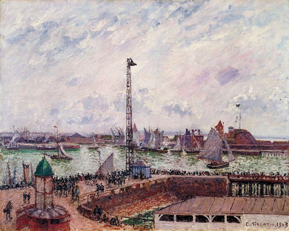 konfigurieren des Kunstdrucks in Wunschgröße The Pilots Jetty, Le Havre von Pissarro, Camille