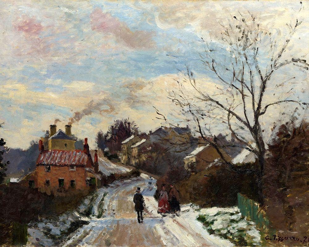 konfigurieren des Kunstdrucks in Wunschgröße Fox Hill, Upper Norwood von Pissarro, Camille
