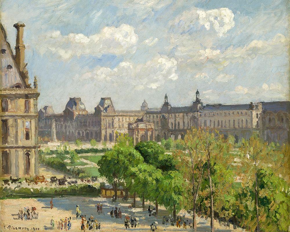 konfigurieren des Kunstdrucks in Wunschgröße Place du Carrousel, Paris von Pissarro, Camille