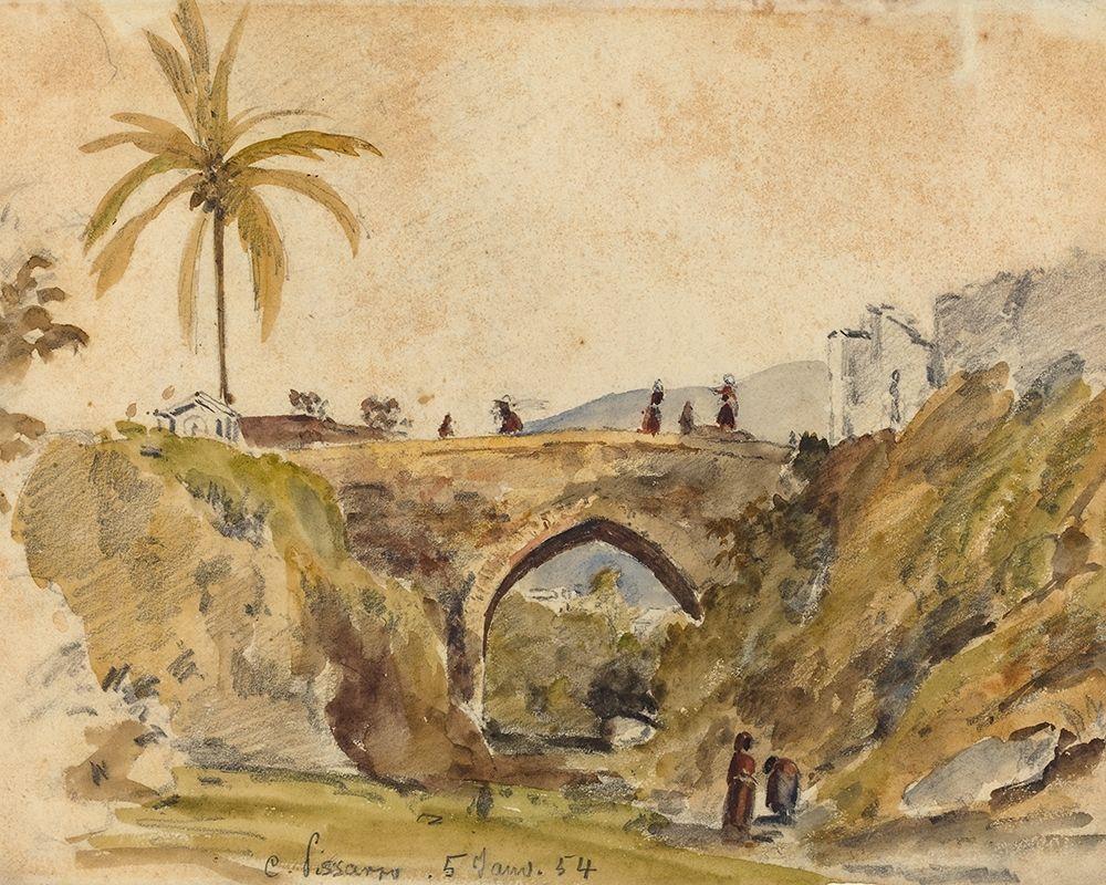 konfigurieren des Kunstdrucks in Wunschgröße Bridge at Caracas von Pissarro, Camille