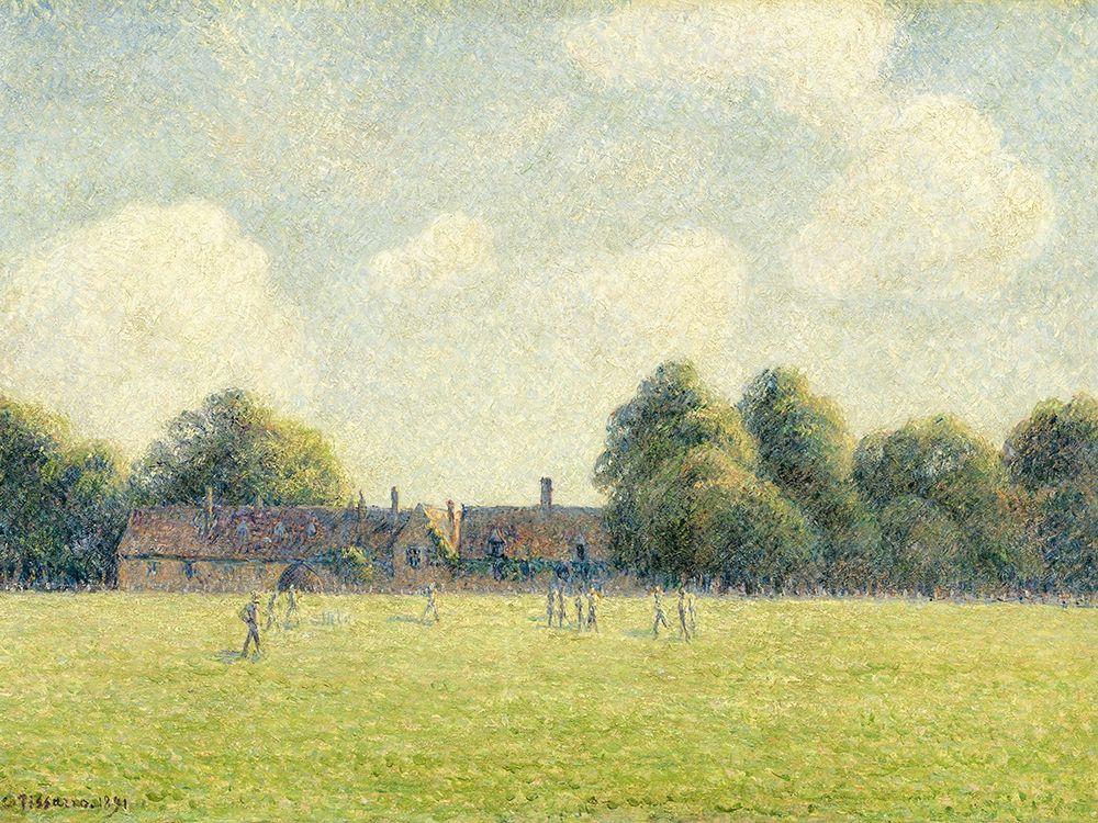 konfigurieren des Kunstdrucks in Wunschgröße Hampton Court Green von Pissarro, Camille