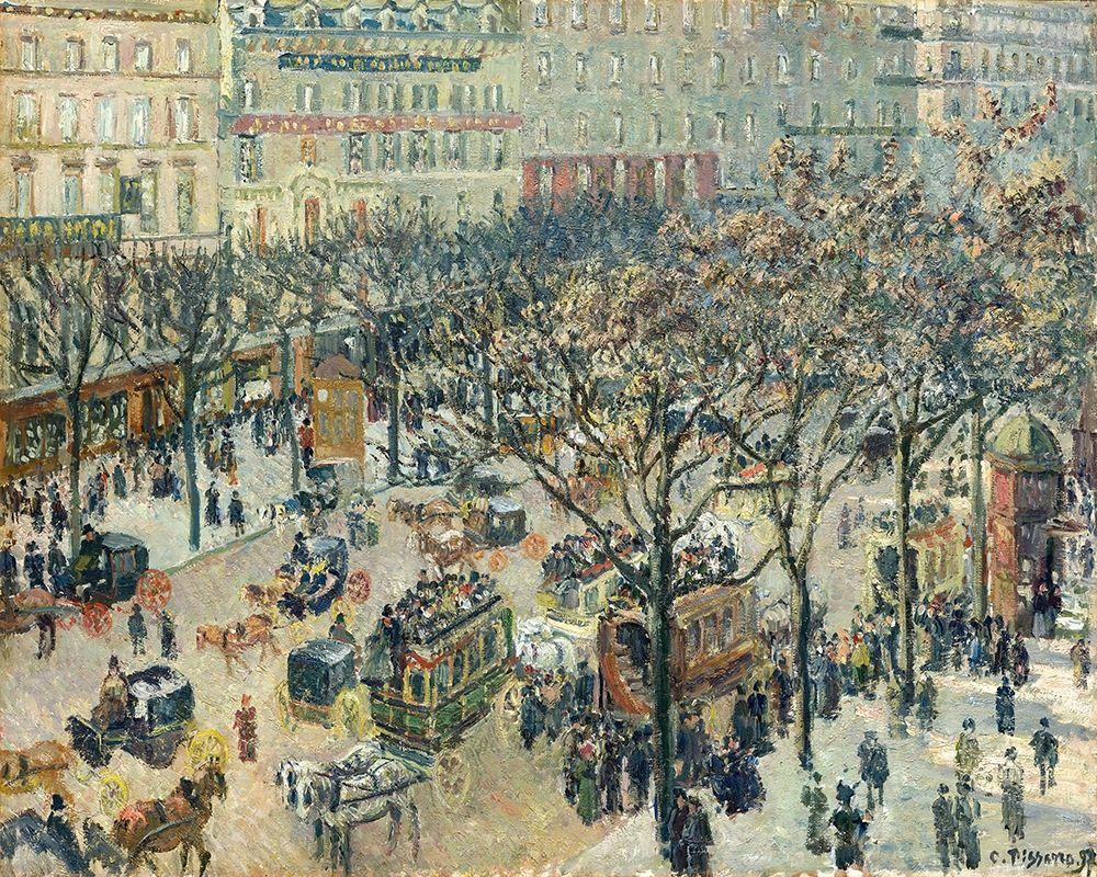 konfigurieren des Kunstdrucks in Wunschgröße Boulevard des Italiens, Morning, Sunlight von Pissarro, Camille
