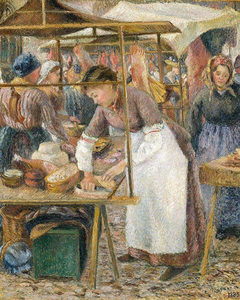 konfigurieren des Kunstdrucks in Wunschgröße The Pork Butcher von Pissarro, Camille