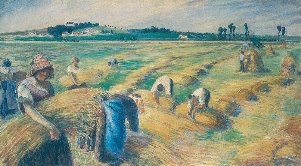 konfigurieren des Kunstdrucks in Wunschgröße Harvest von Pissarro, Camille
