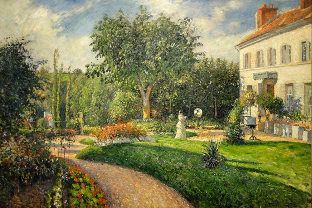 konfigurieren des Kunstdrucks in Wunschgröße The Garden of Les Mathurins at Pontoise von Pissarro, Camille