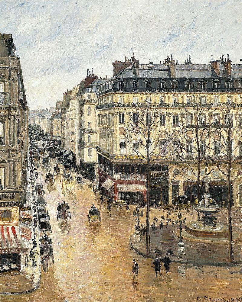konfigurieren des Kunstdrucks in Wunschgröße Rue Saint-Honore in the Afternoon. Effect of Rain von Pissarro, Camille