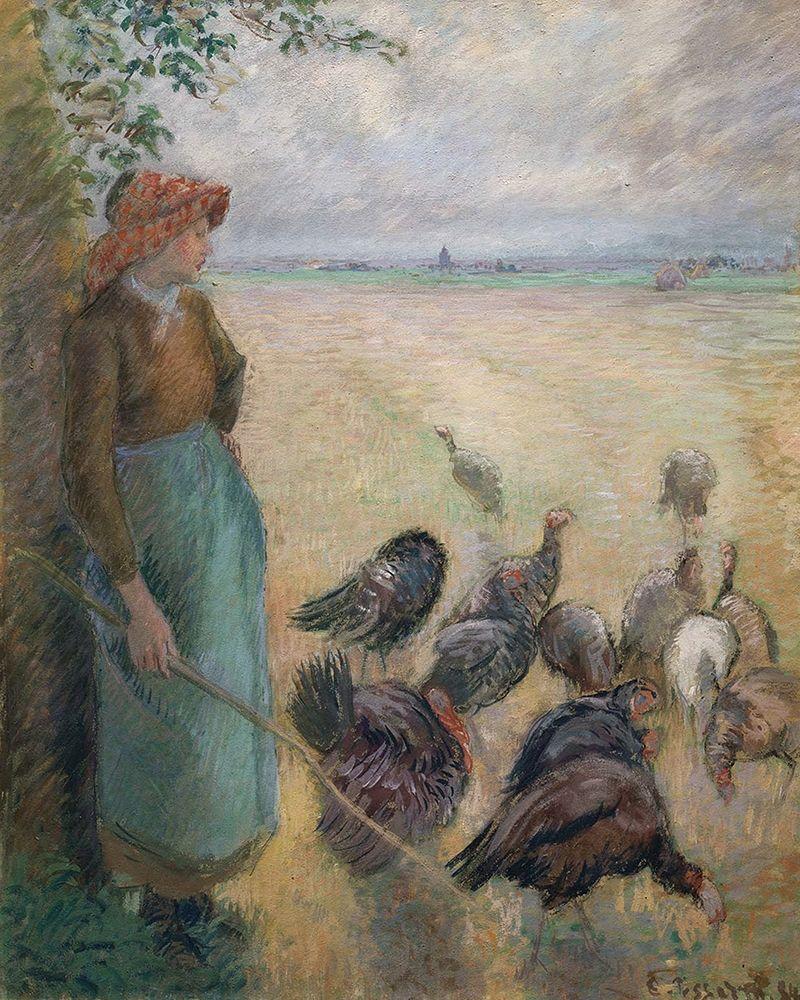 konfigurieren des Kunstdrucks in Wunschgröße Turkey Girl von Pissarro, Camille