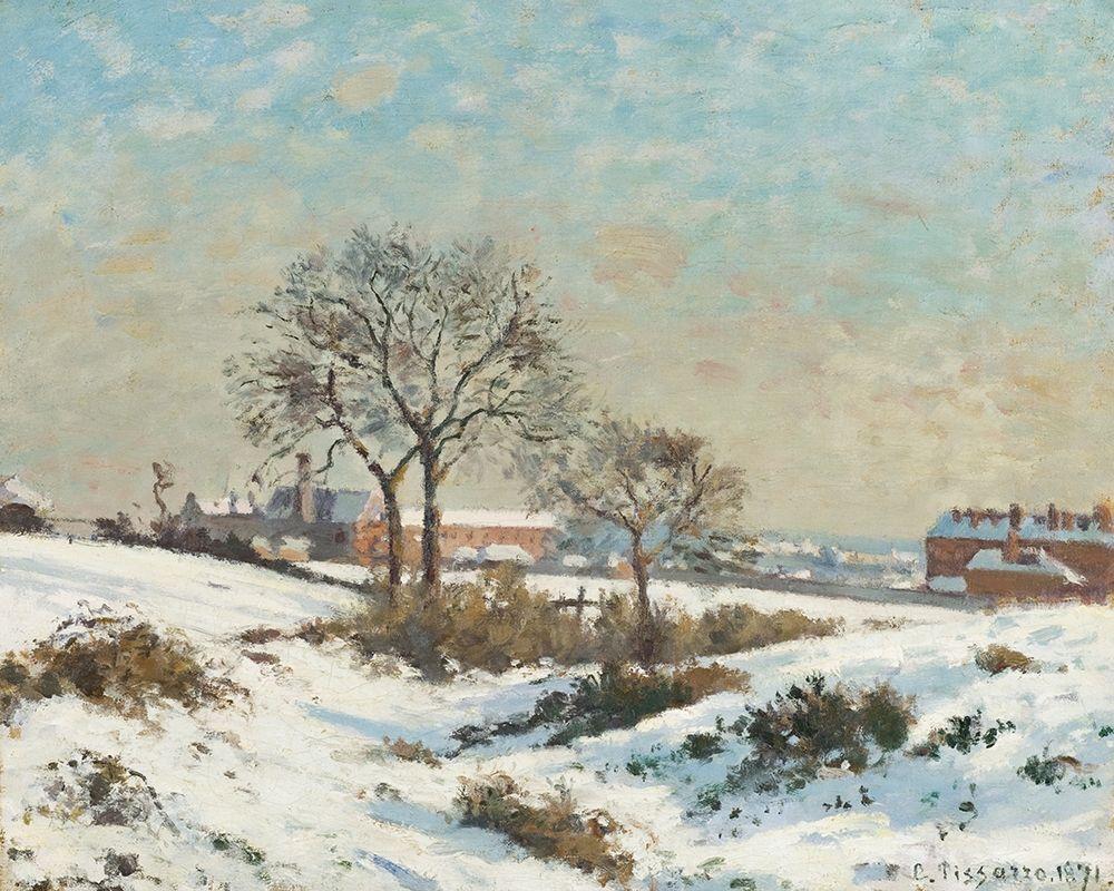 konfigurieren des Kunstdrucks in Wunschgröße Snowy Landscape at South Norwood von Pissarro, Camille