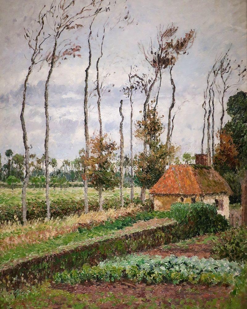 konfigurieren des Kunstdrucks in Wunschgröße Landscape at Varengeville, Gray Weather von Pissarro, Camille