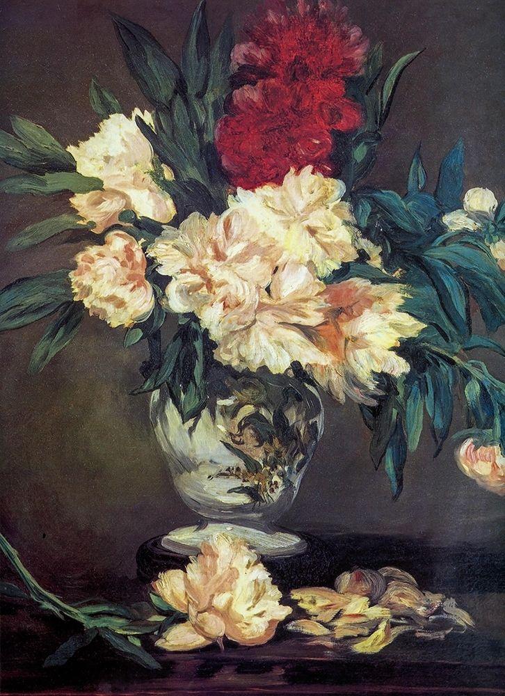 konfigurieren des Kunstdrucks in Wunschgröße Vase of Peonies von Manet, Edouard