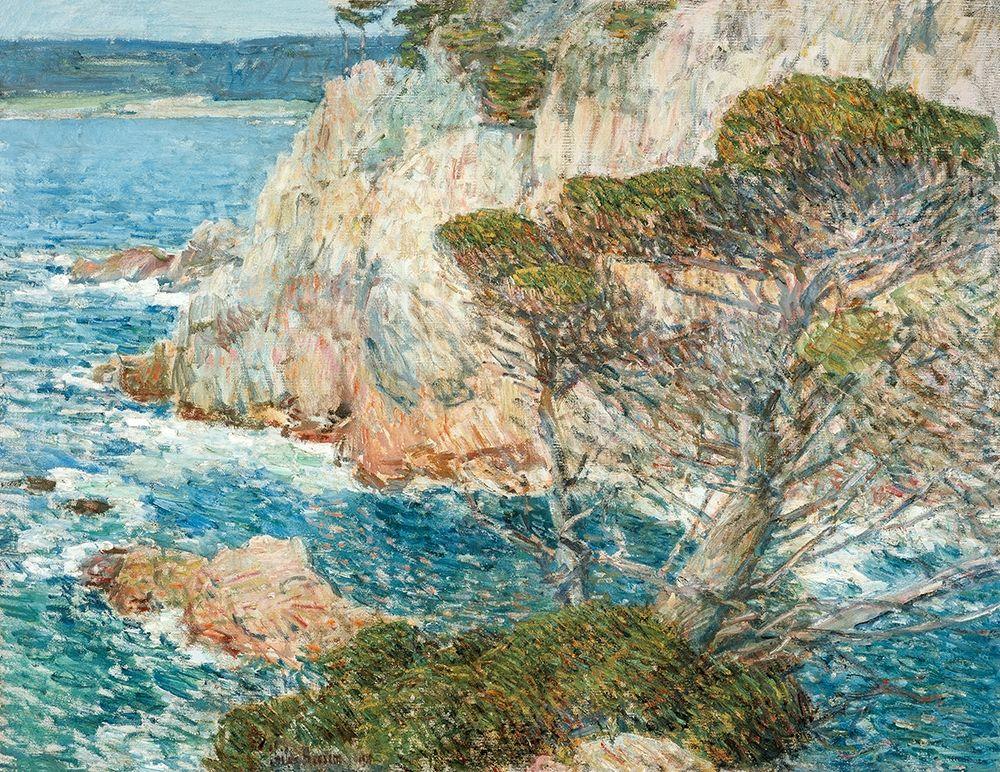 konfigurieren des Kunstdrucks in Wunschgröße Point Lobos-Carmel von Hassam, Childe
