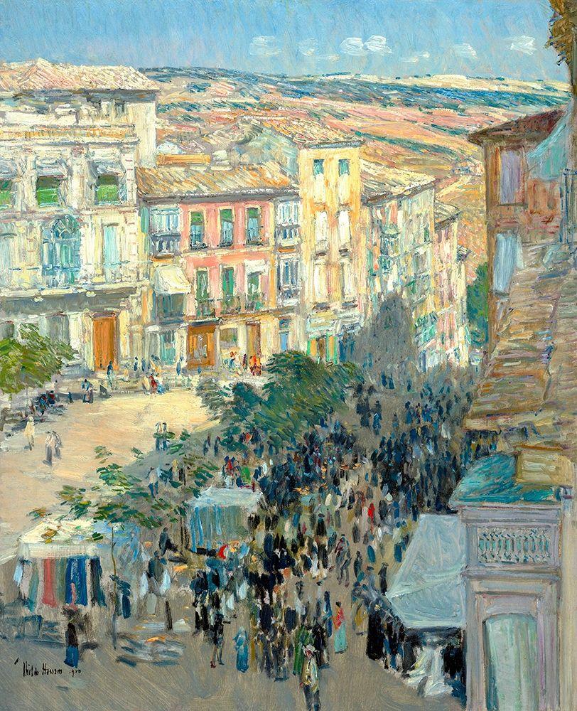 konfigurieren des Kunstdrucks in Wunschgröße View of a Southern French City von Hassam, Childe