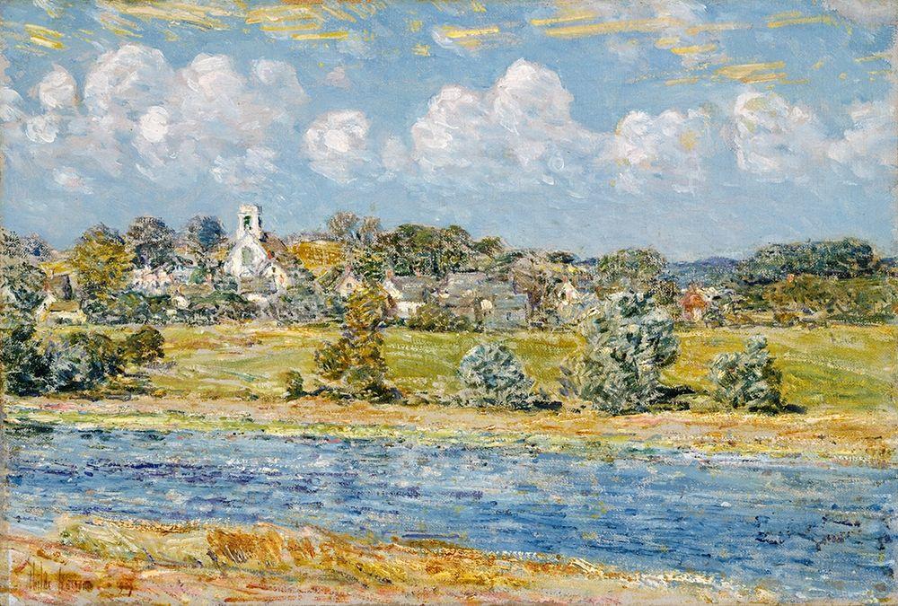 konfigurieren des Kunstdrucks in Wunschgröße Landscape at Newfields-New Hampshire von Hassam, Childe