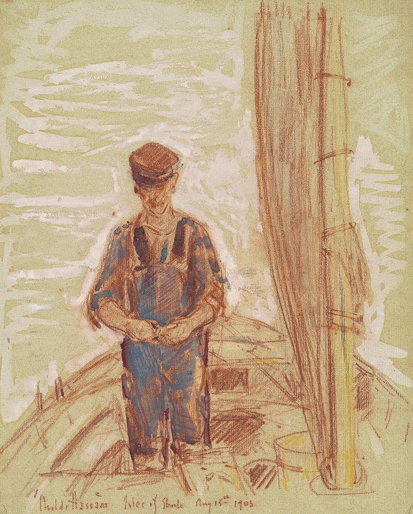 konfigurieren des Kunstdrucks in Wunschgröße Fisherman-Isle of Shoals von Hassam, Childe