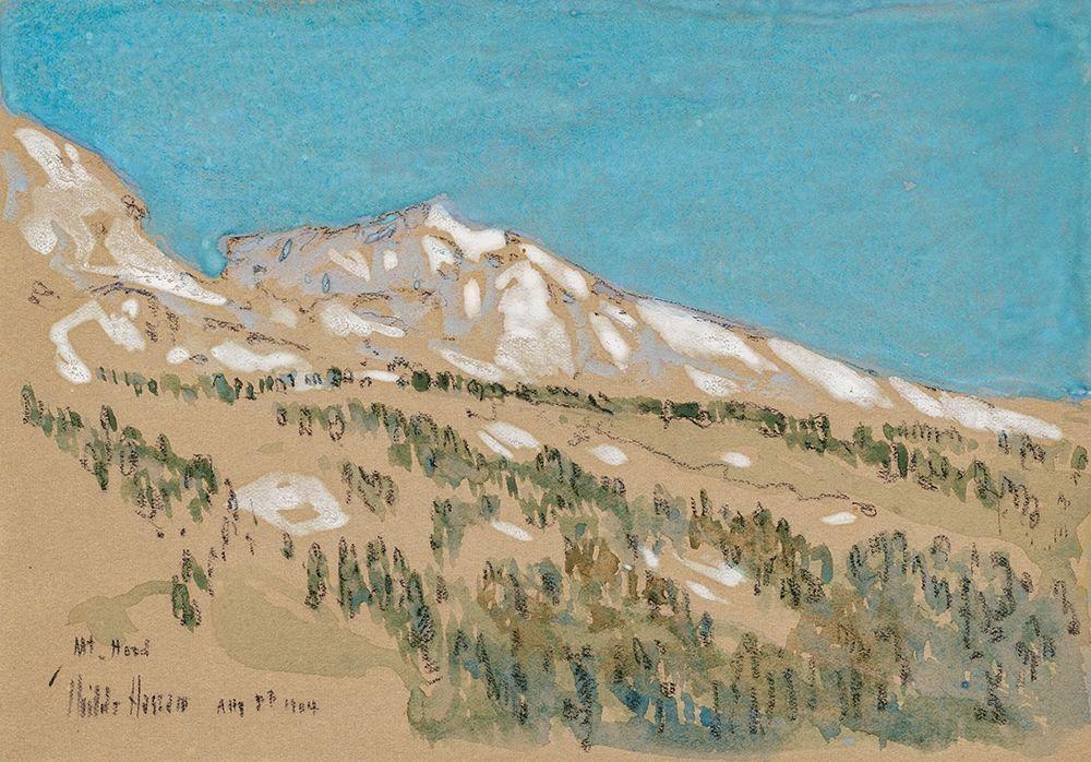 konfigurieren des Kunstdrucks in Wunschgröße Mount Hood-Oregon von Hassam, Childe